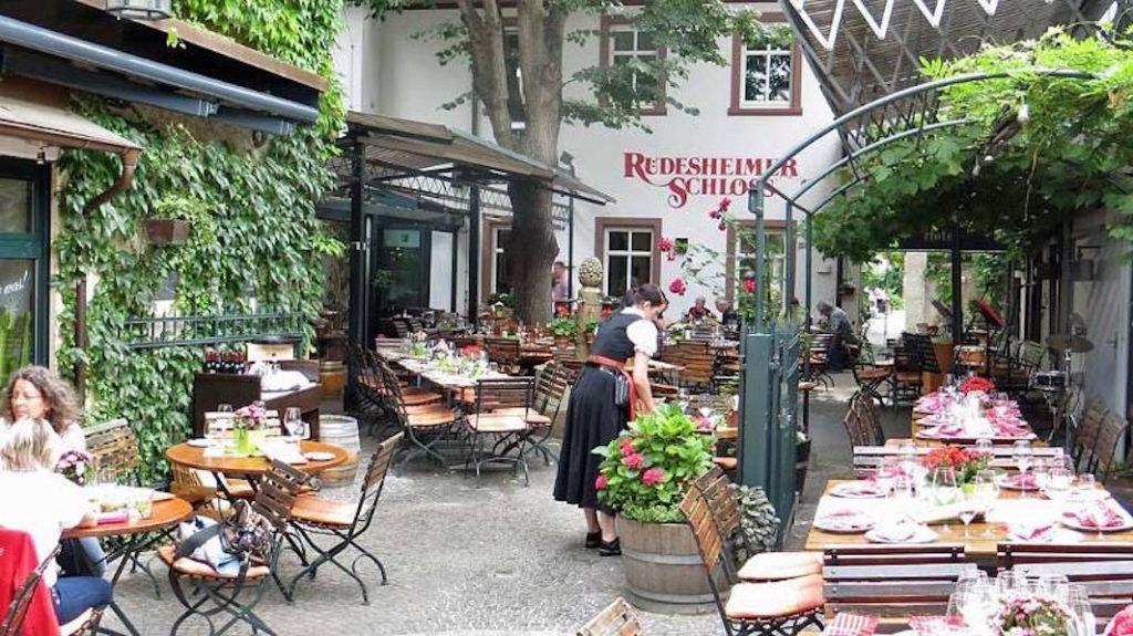 Bindingsværk idyl i Drosselgaße i Rüdesheim