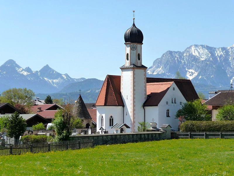 Kirken i Wallgau