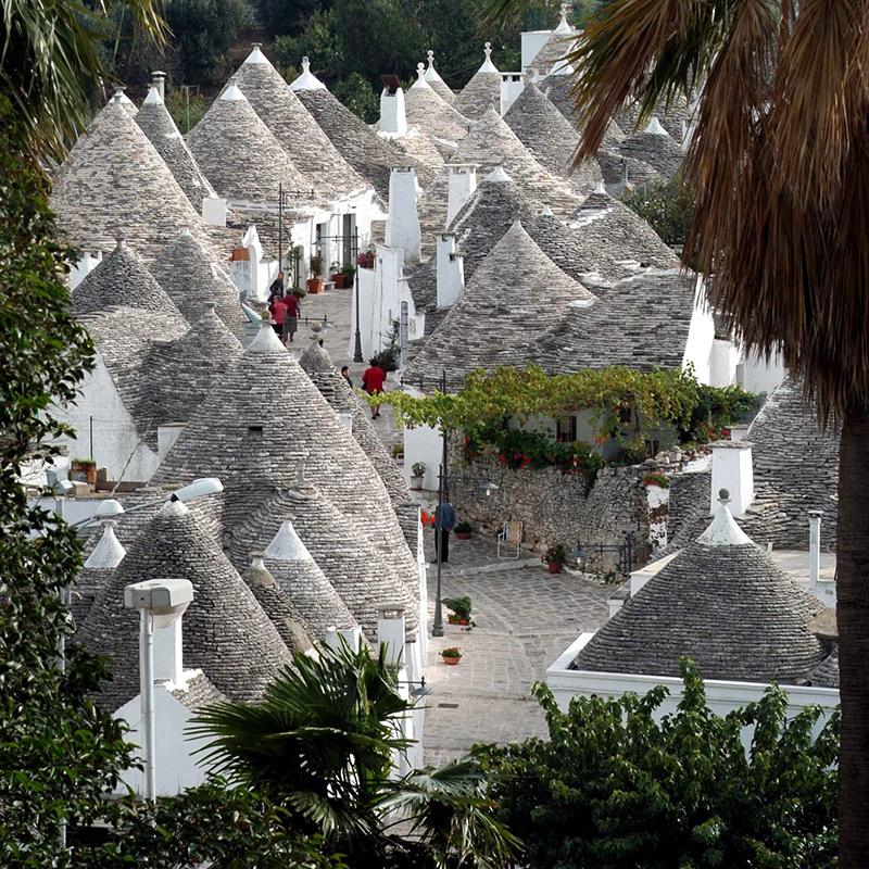 Trulli huse i Alberobello