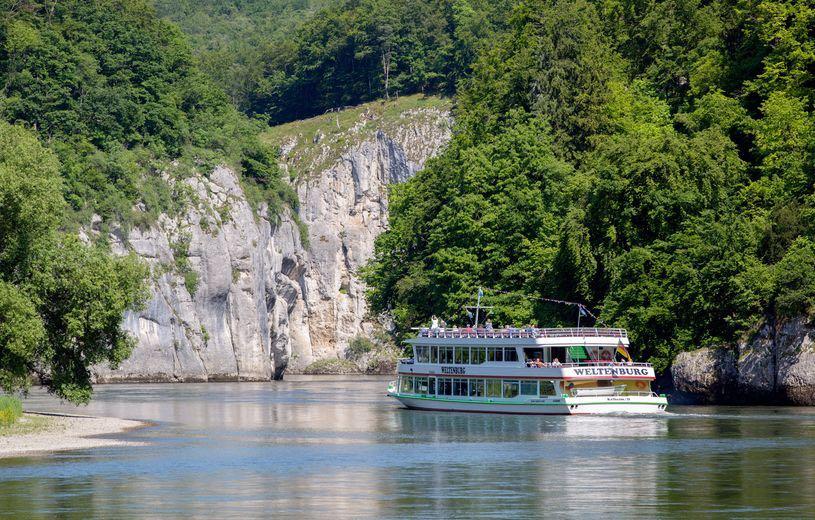 Smuk sejltur på Donau til Weltenburg Kloster