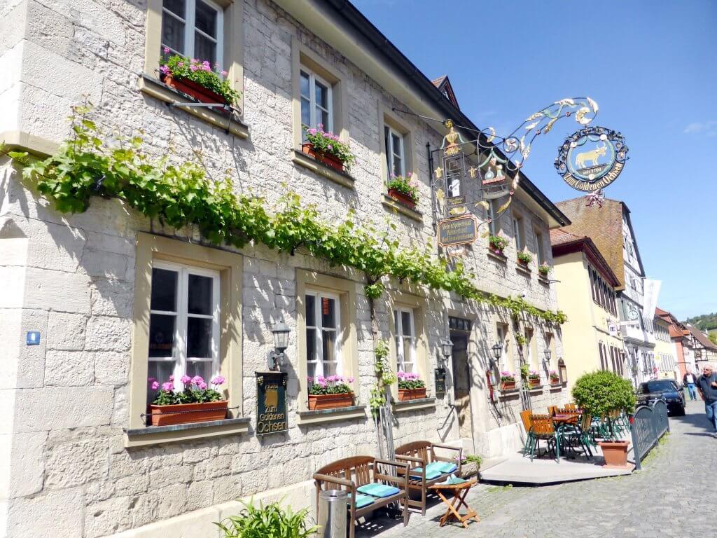 Idyl i de små gader i Sommerach